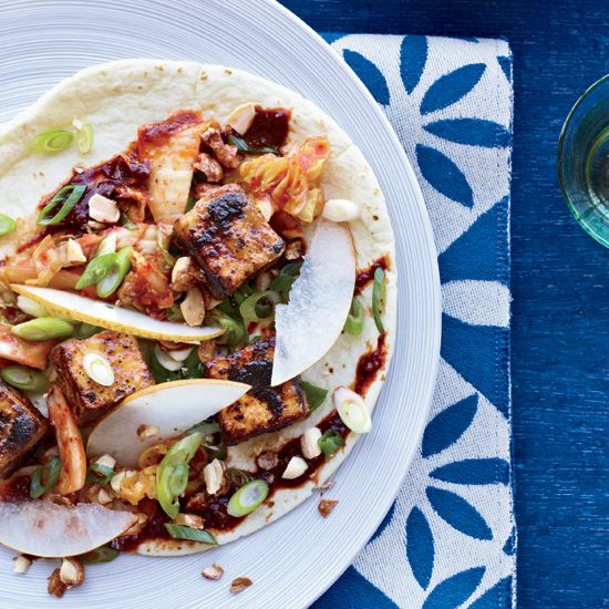 Crunchy Tofu Tacos // More Tasty Taco Recipes: http://www.foodandwine.com/slideshows/tacos #foodandwine #Taco #Tacos #Mexican #Food