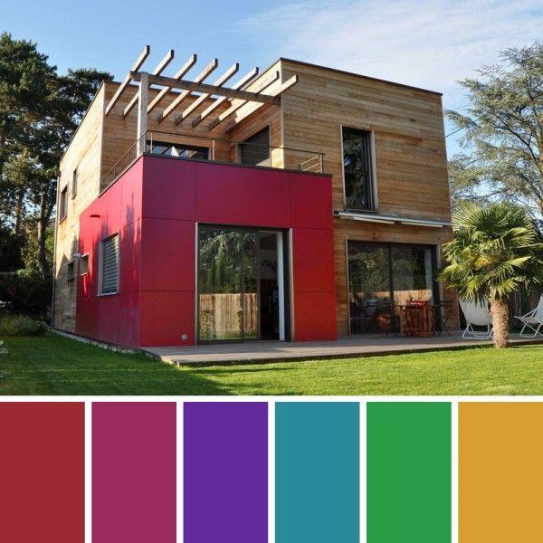 Vibrante helene lamboley architecte dplg patio for Ver colores de casas pintadas