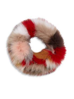 1d2d57107a9 SURELL Multicolor Fox Fur Cowl Scarf.  surell  scarf