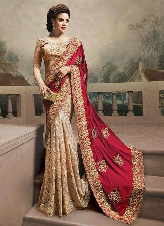 33cd6fe32f4 Perfect colour combination of red and gold for festive season ...