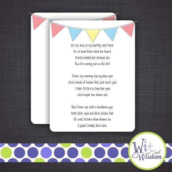 Baby Shower Ideas, Baby Shower/, Baby Shower Speech/Poem