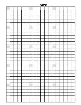 Math Answer Sheet With Graph Paper Grid Math Answers Printable Graph Paper Maths Paper