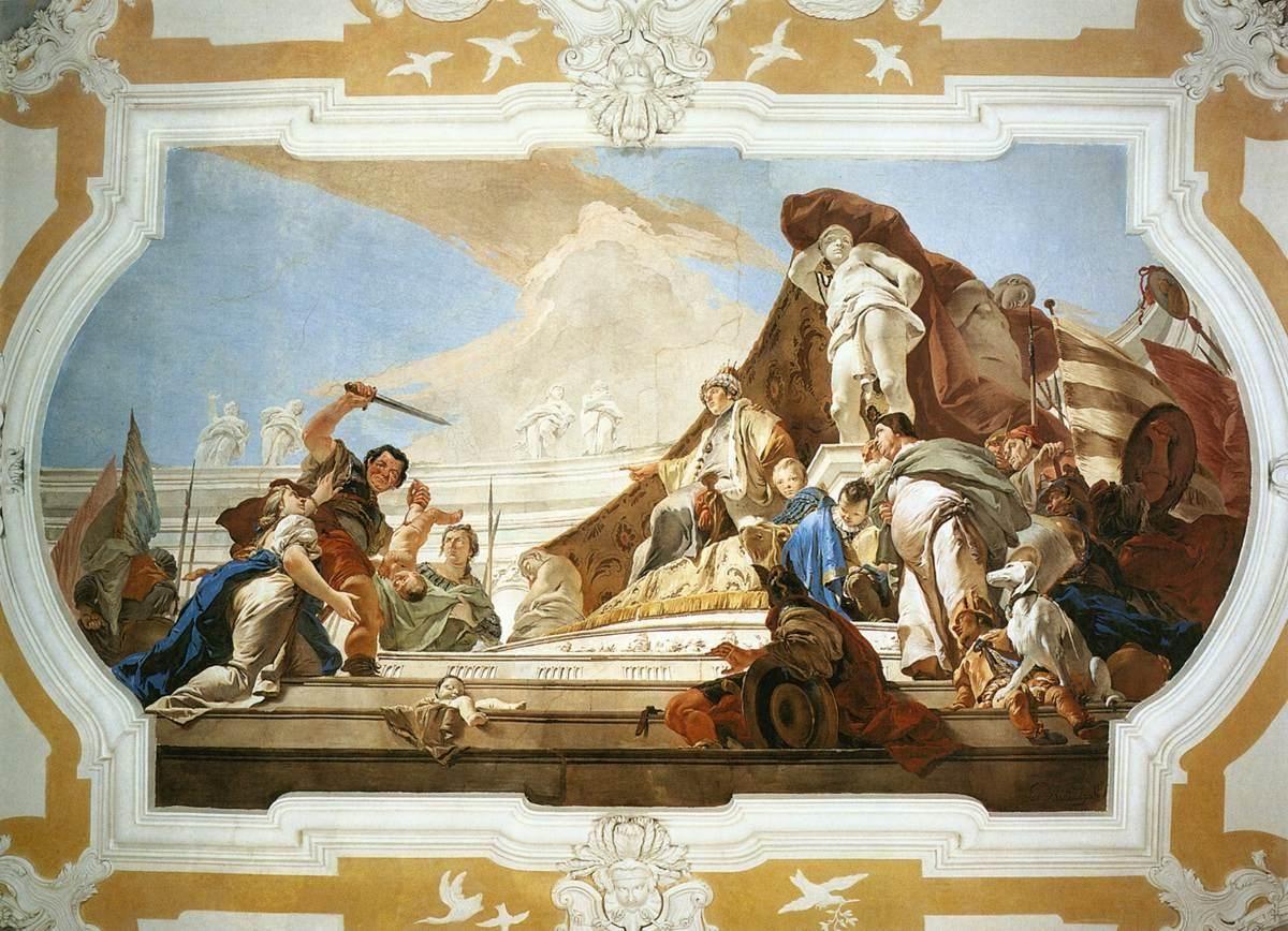 The Judgment Of Solomon Tiepolo Fresco 360 X