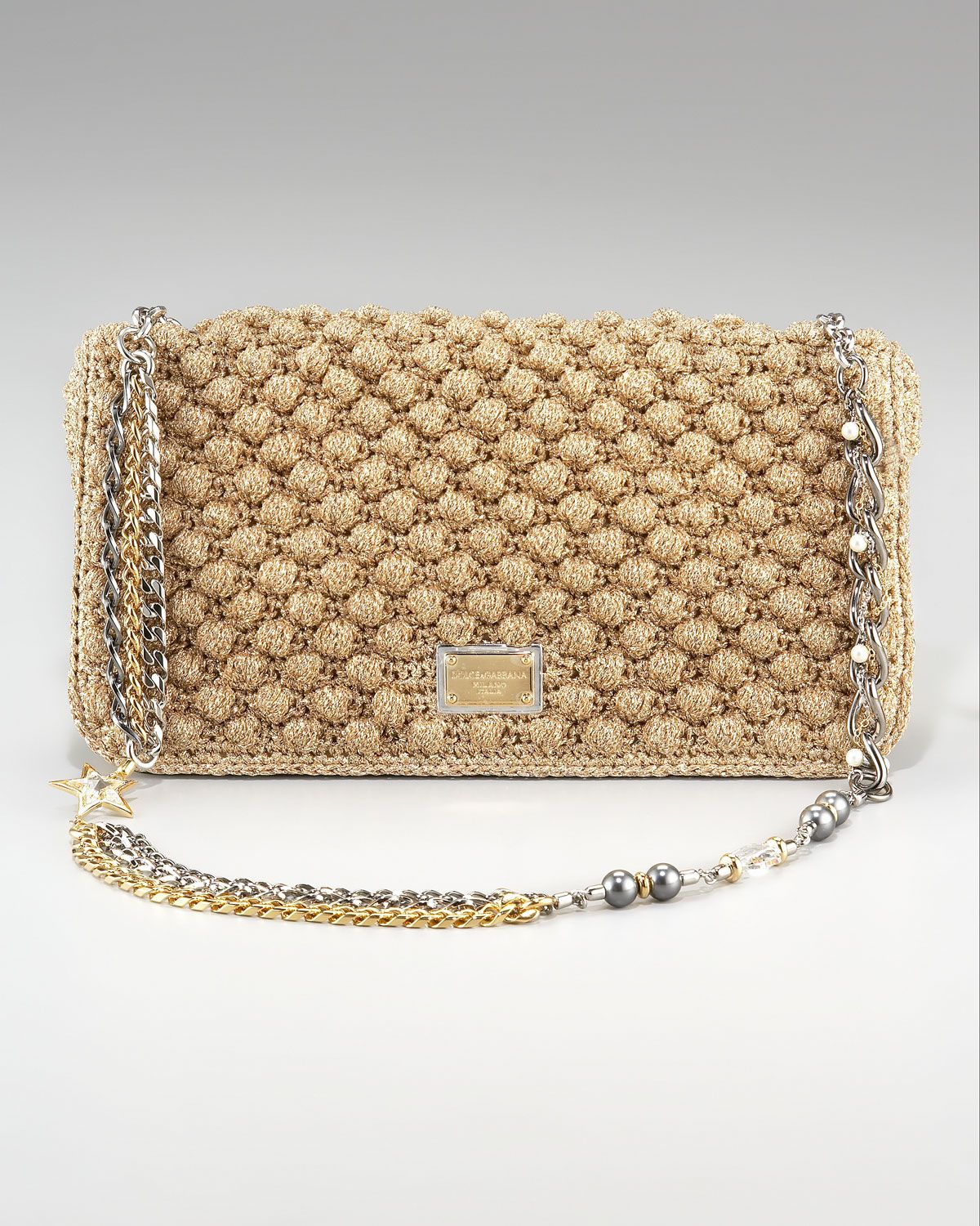 e7a3436ec954 Dolce   Gabbana Miss Charles Crochet Bag in Beige (black)