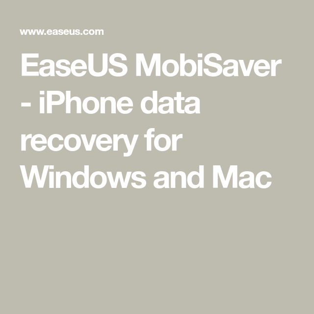 easeus mobisaver iphone 4