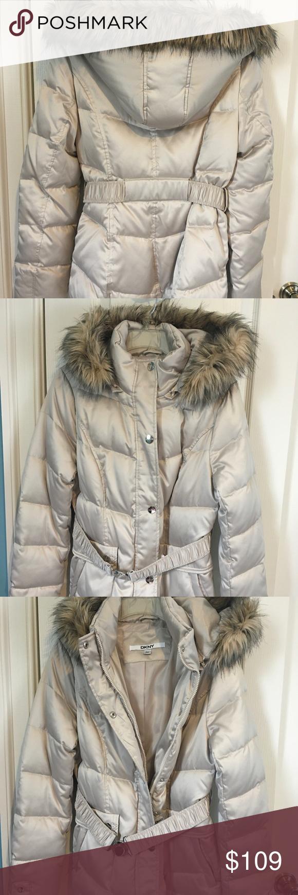 Nwt Dkny Down Winter Coat New With Tag Dkny Coat With Faux Fur Hood Never Worn Down Winter Coats Faux Fur Hood Winter Coat [ 1740 x 580 Pixel ]