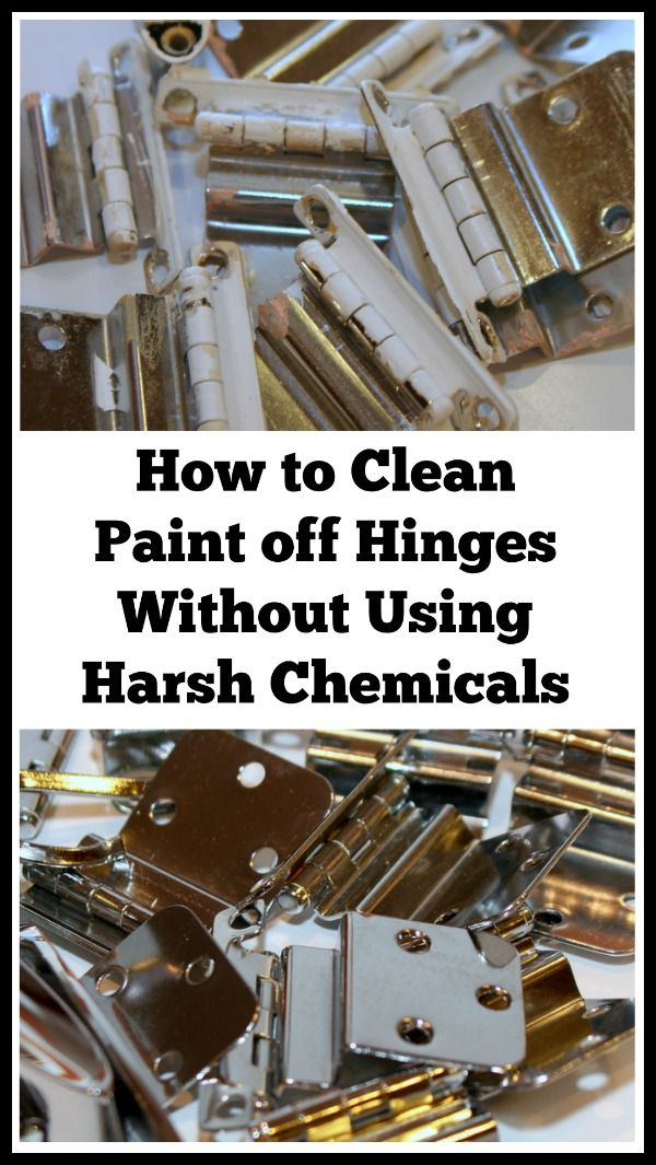 How to Clean Paint off Hinges Without Using Harsh ...