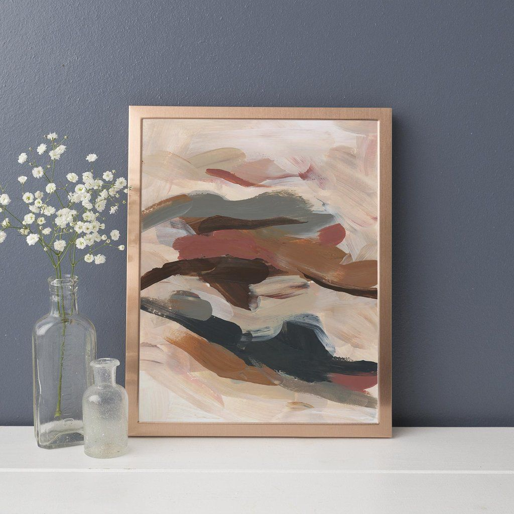 Flowy Modern Abstract Painting Warm Tones Wall Art Print Or Canvas Abstract Painting Modern Abstract Painting Painting