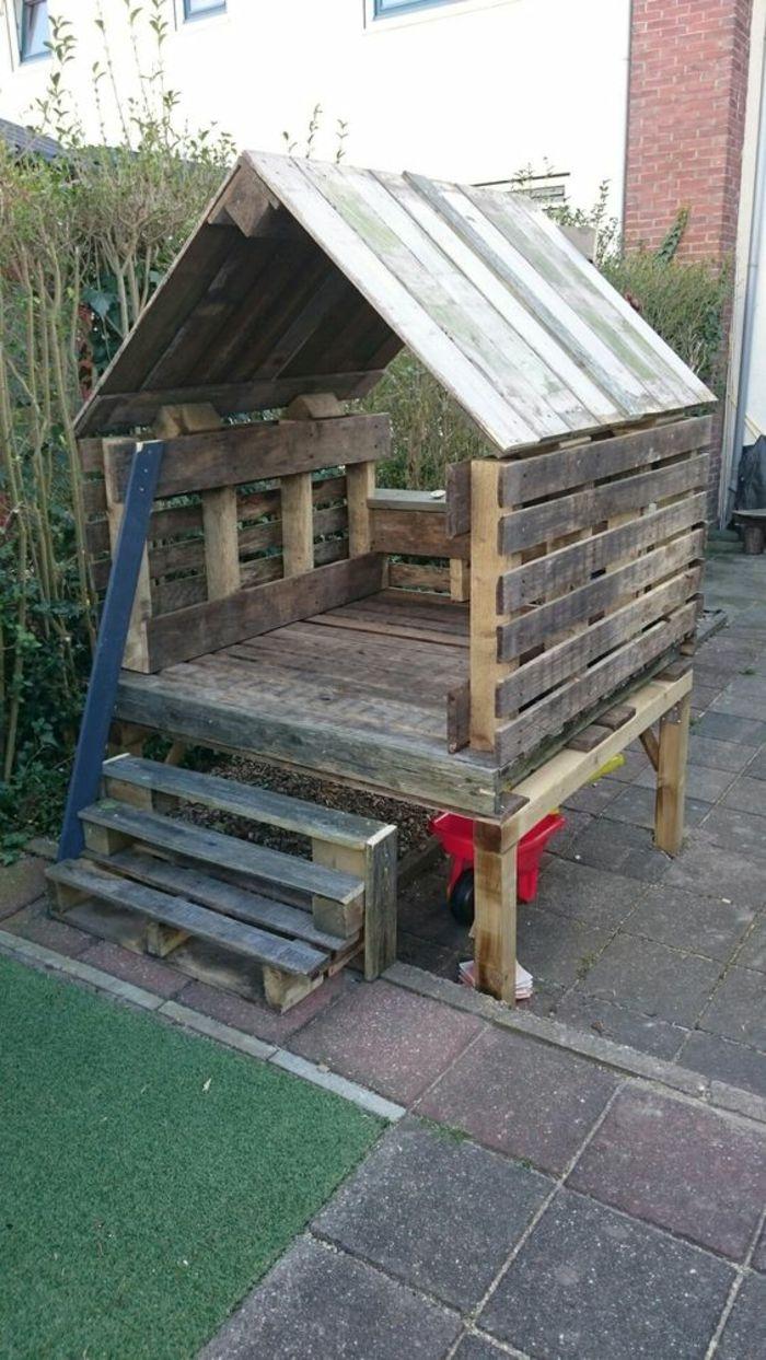 Cabane Jardin En Palette ▷ 1001 + idées pour des meubles de jardin en palettes +