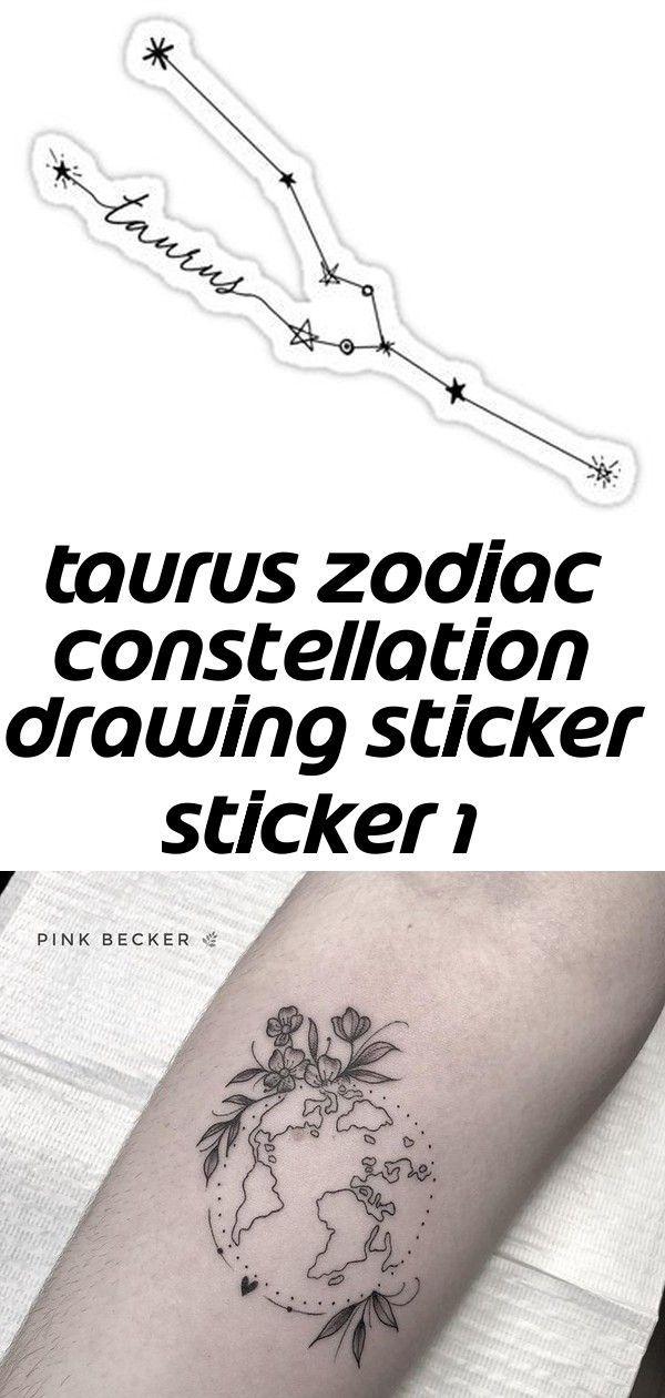 Photo of Stier Sternzeichen Sternbild Zeichnung Aufkleber Aufkleber 1, #Konstellation #Ziehung #Sticker #Tau …