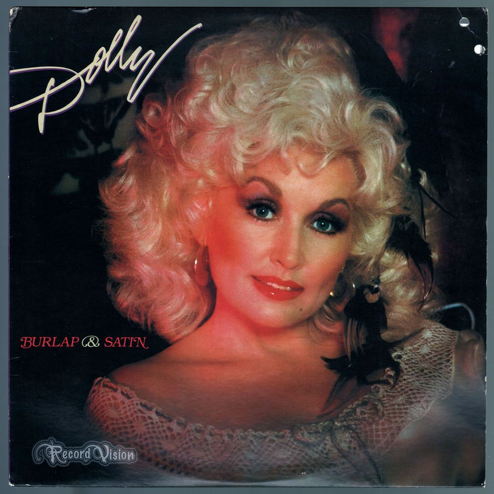 "#Burlap and #Satin, by #Dolly #Parton, straddled the line between pop & country sounds. #DollyParton wrote six songs on #BurlapAndSatin, including three originally penned for the soundtrack of ""The Best Little Whorehouse in Texas."" The album's single, ""Potential New Boyfriend"" was a top 20 single, and was accompanied by Parton's first ever music video. #WillieNelson duets on ""I Really Don't Want to Know."" #PotentialNewBoyfriend #AppalachianMemories #Vinyl #LP"