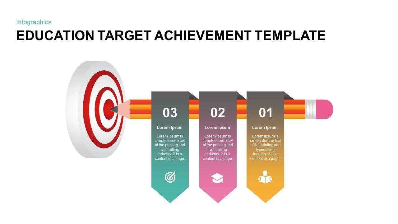 Education Target Achievement Template For Powerpoint Powerpointtemplates Powerpointslides Powerpoint Templates Powerpoint Templates