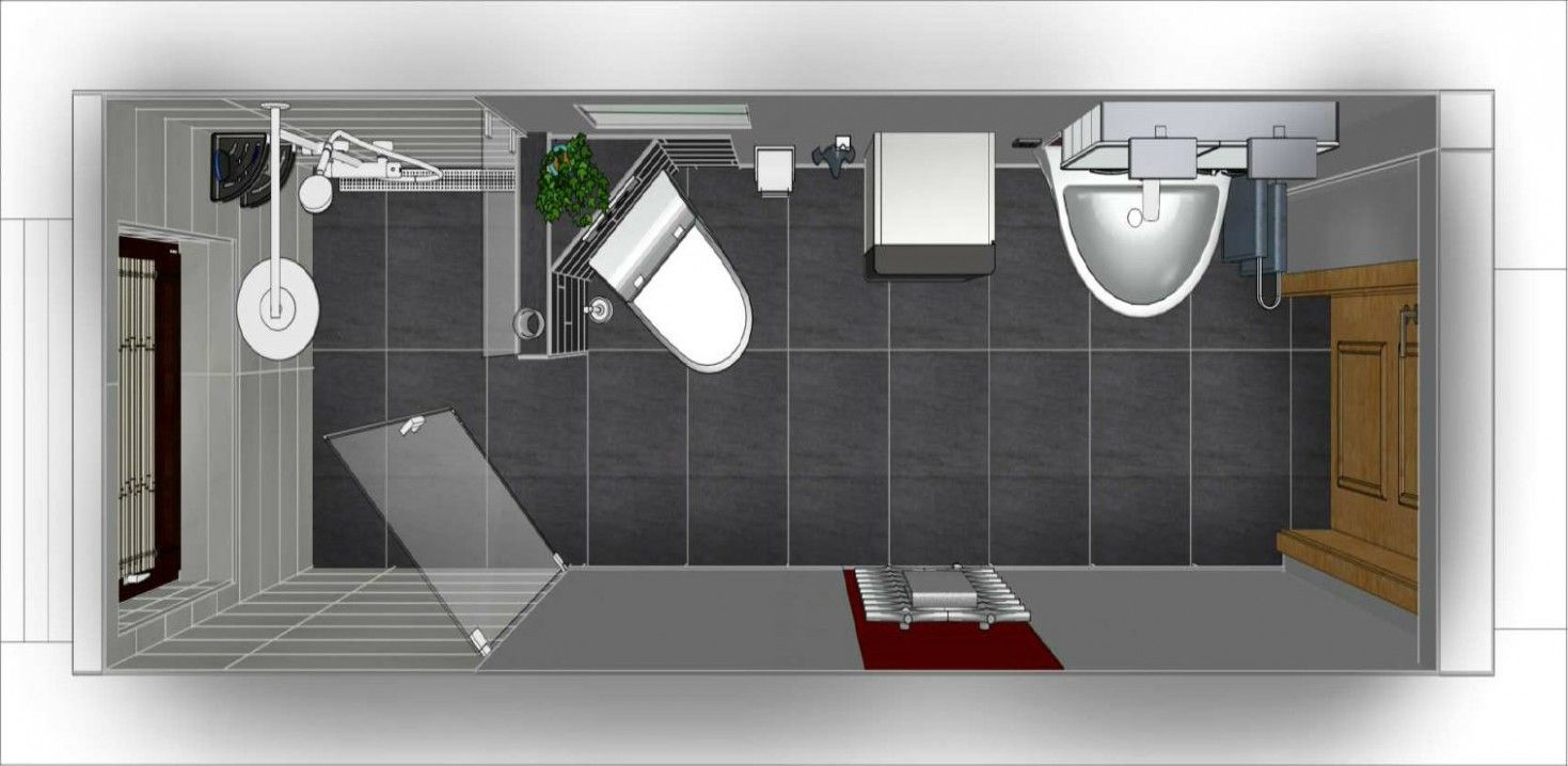 Erstaunlich Schmales Bad Chestha Com Idee Badezimmer Schmal Badezimmer Grundriss Luxus Badezimmer Bad Grundriss