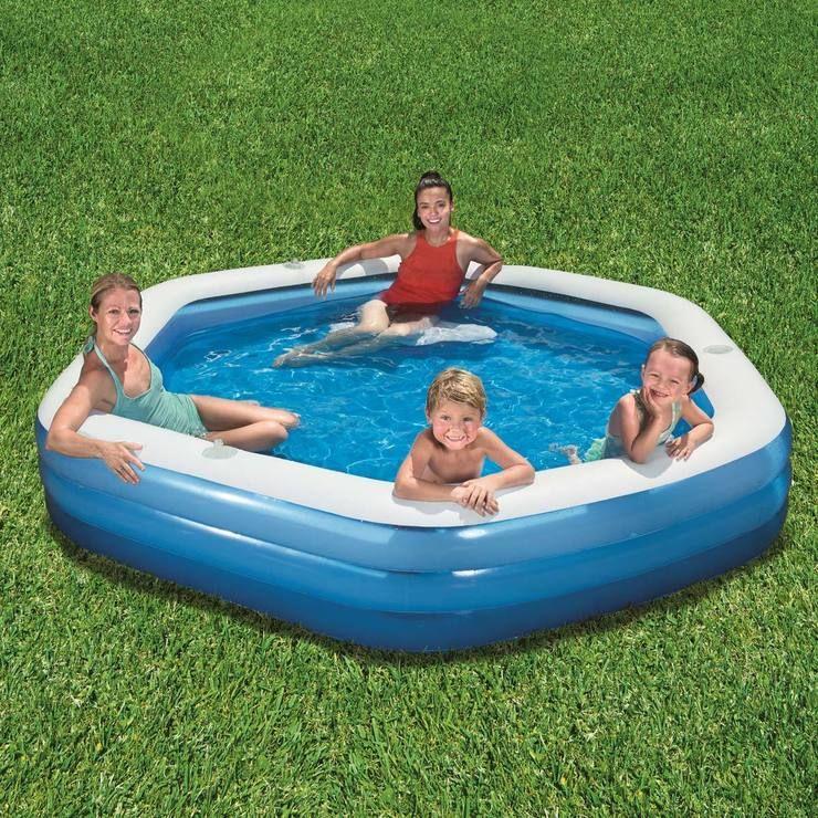 Bestway 8ft 9 267 Cm Hexagon Family Lounge Pool Costco Uk Family Lounge Pool Inflatable Pool Pool