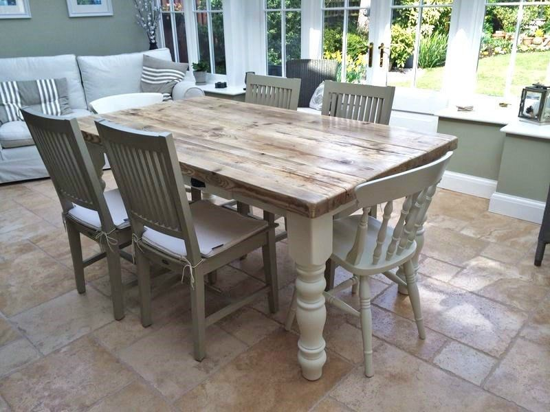Elegant Farmhouse Kitchen Table