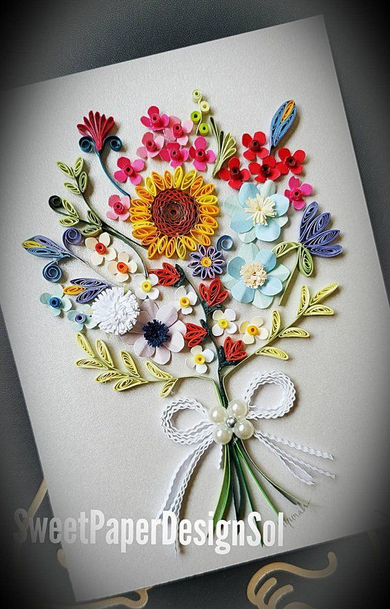 Paper Quilling Art Paper Quilling Flower Bouquet Etsy Crafts