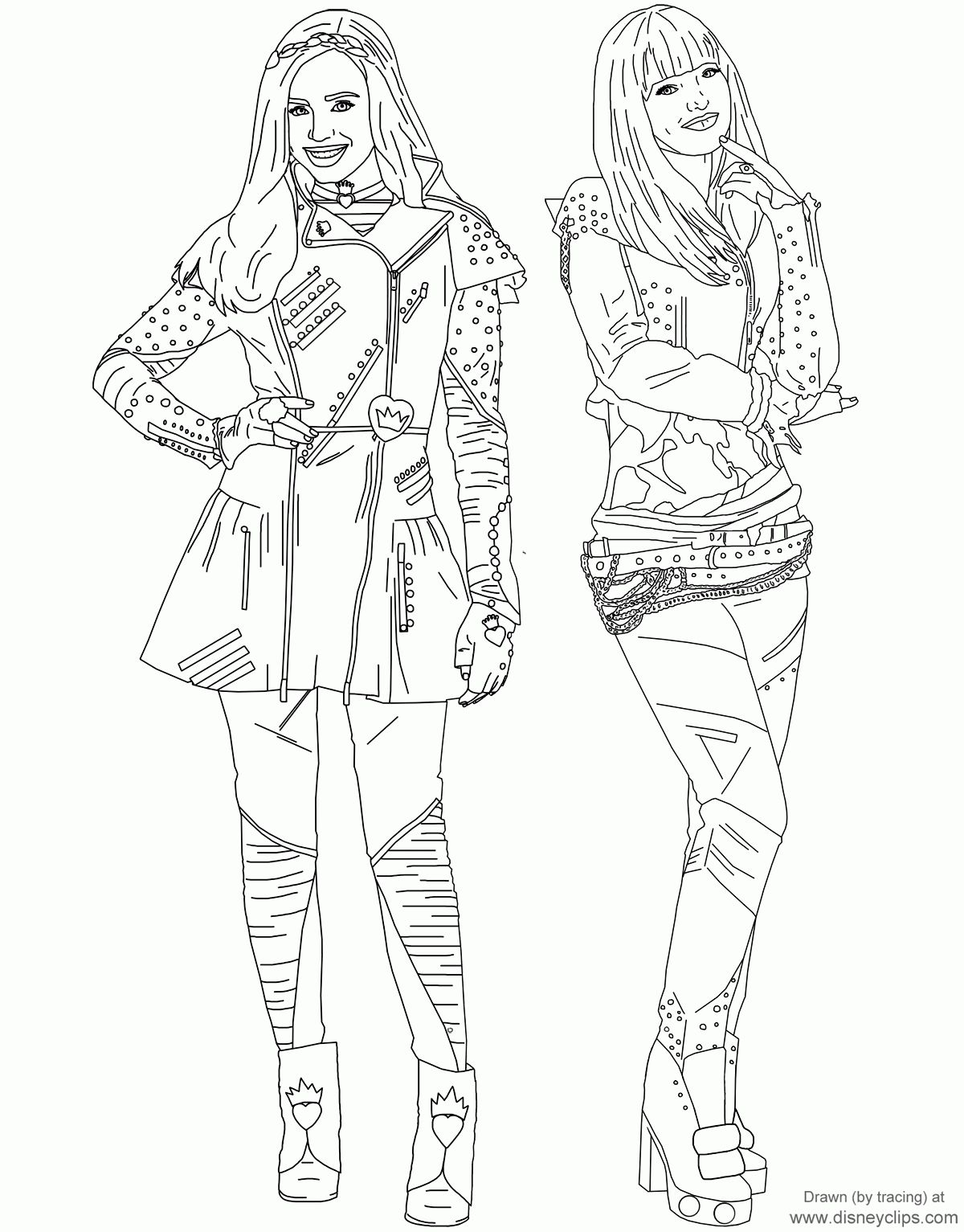 Best Descendants Coloring Pages Printable And Online Descendants Coloring Pages Coloring Pages To Print Disney Coloring Pages