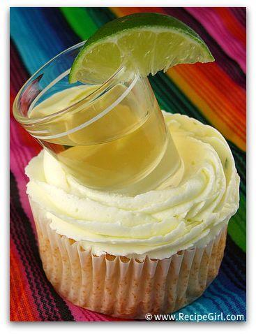 Margarita Cupcake with a shot! yum!