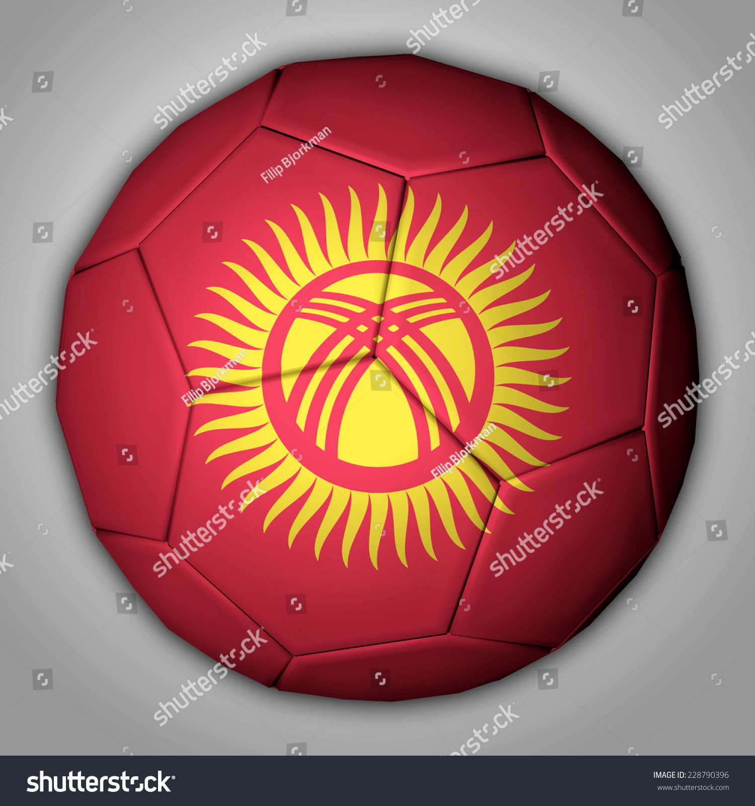 Illustration Of A Football With Flag Inside Kyrgyzstan Ad Sponsored Football Illustration Kyrgyzstan F In 2020 Kyrgyzstan Flag Flag Football Instagram Template