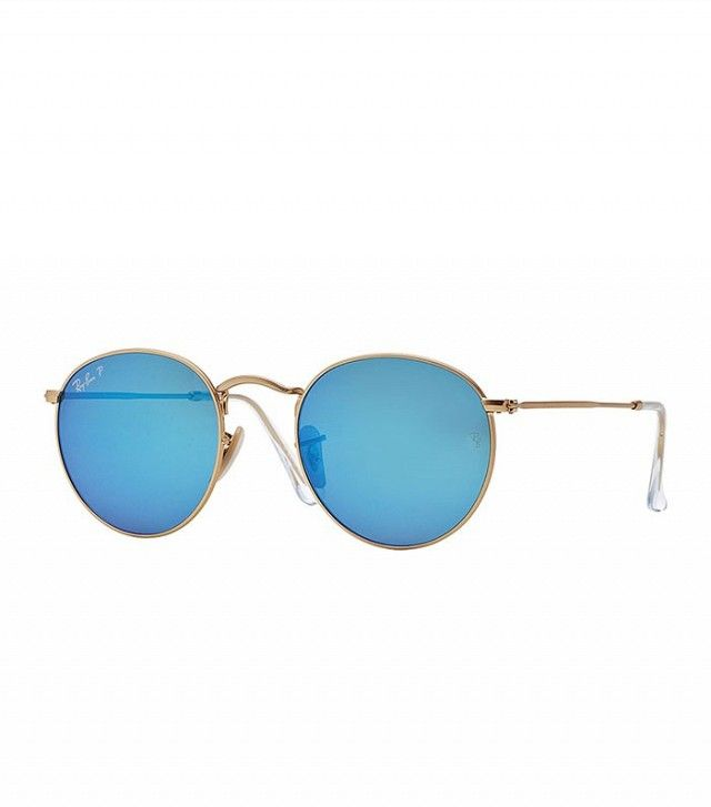 19c243e63f5 ... sweden ray ban polarized round metal frame sunglasses with blue mirror  lens 8261a be463