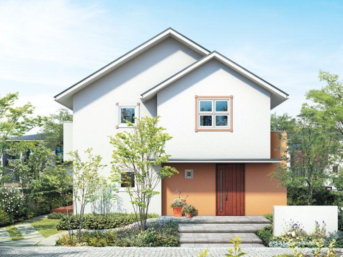 ナチュラルな外観デザイン イメージ 日本のモダンな家 住宅 外観