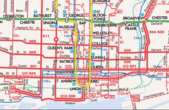 Is the new TTC system map easier to read maps Pinterest