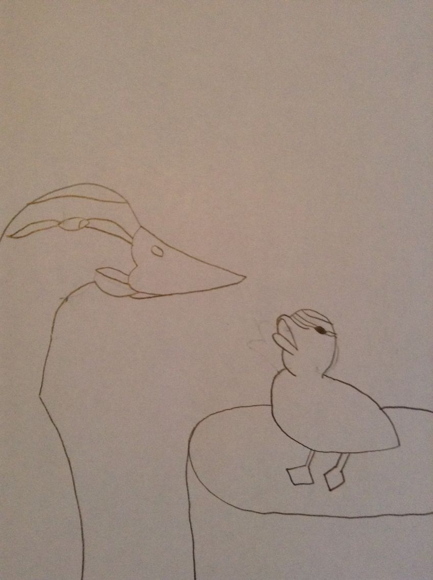 This is for @20haleja. She wanted me to draw a picture of a cute duck. I drew the picture but added a mom. It was a quick sketch because I didn't have much time. I wanted to get it done or I would feel bad. I hope you all enjoy!