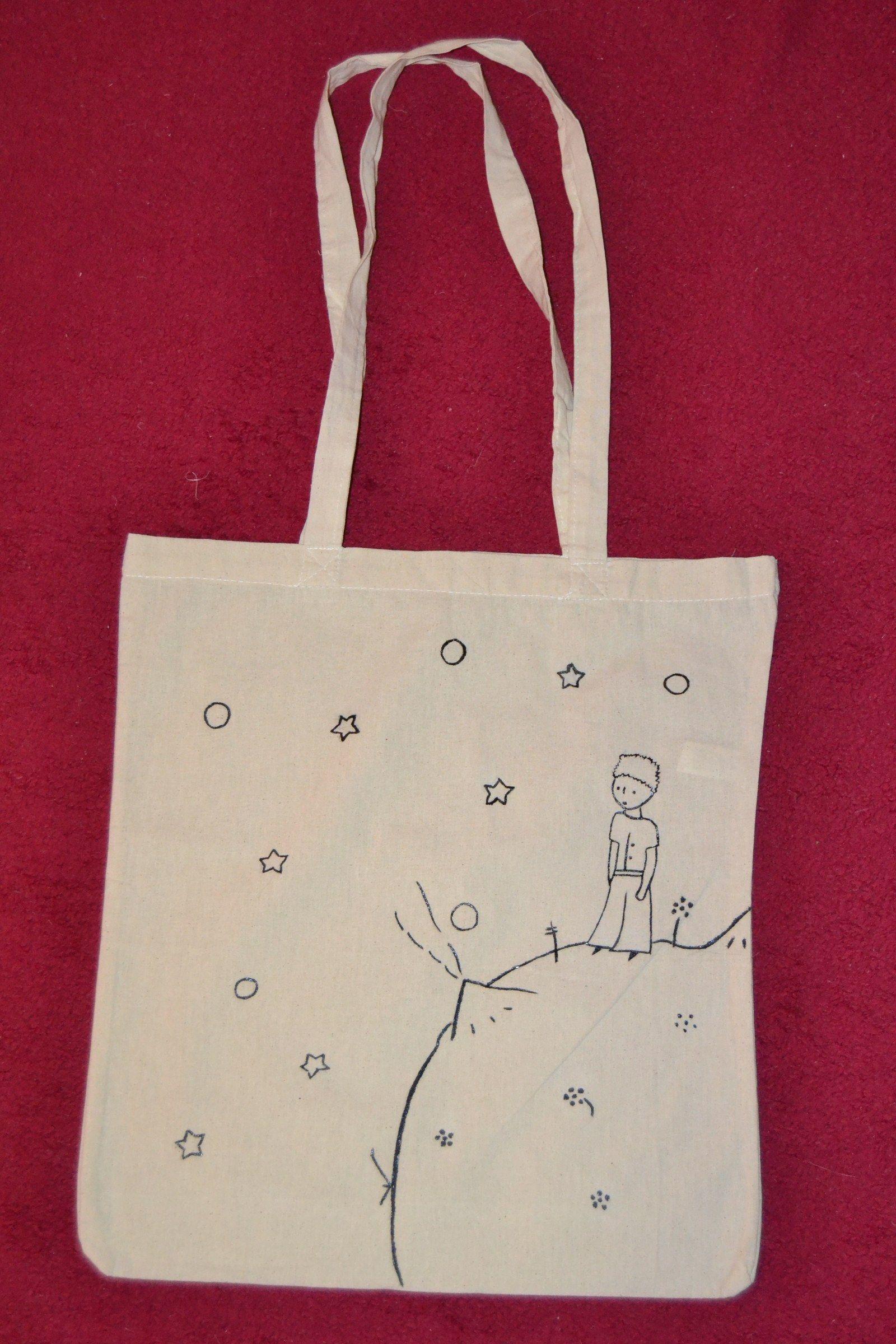 5bbbf5f45 Bavlněná ručně malovaná taška Krásná, bavlněná, ručně malovaná taška.  Rozměry 42 cm x