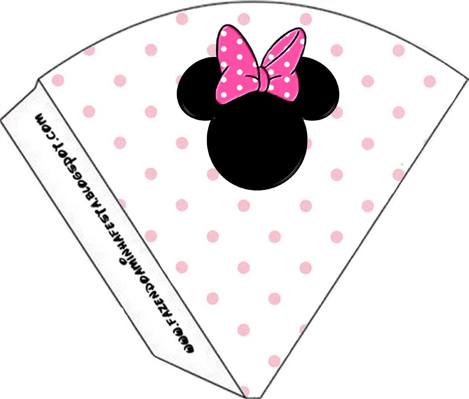 Kit Completo Minnie Rosa – Com molduras para convites, rótulos para guloseimas, lembrancinhas e imagens!