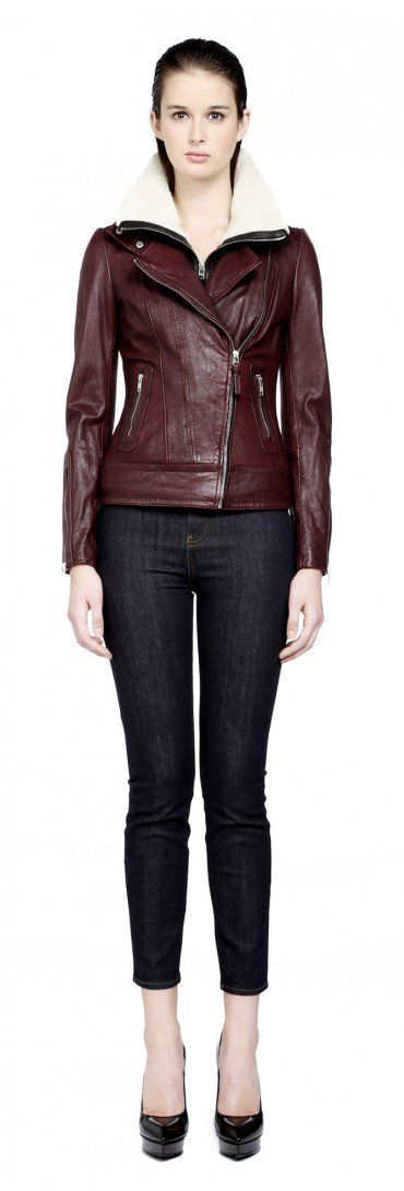 Mackage - VERUCA MERLOT LEATHER JACKET