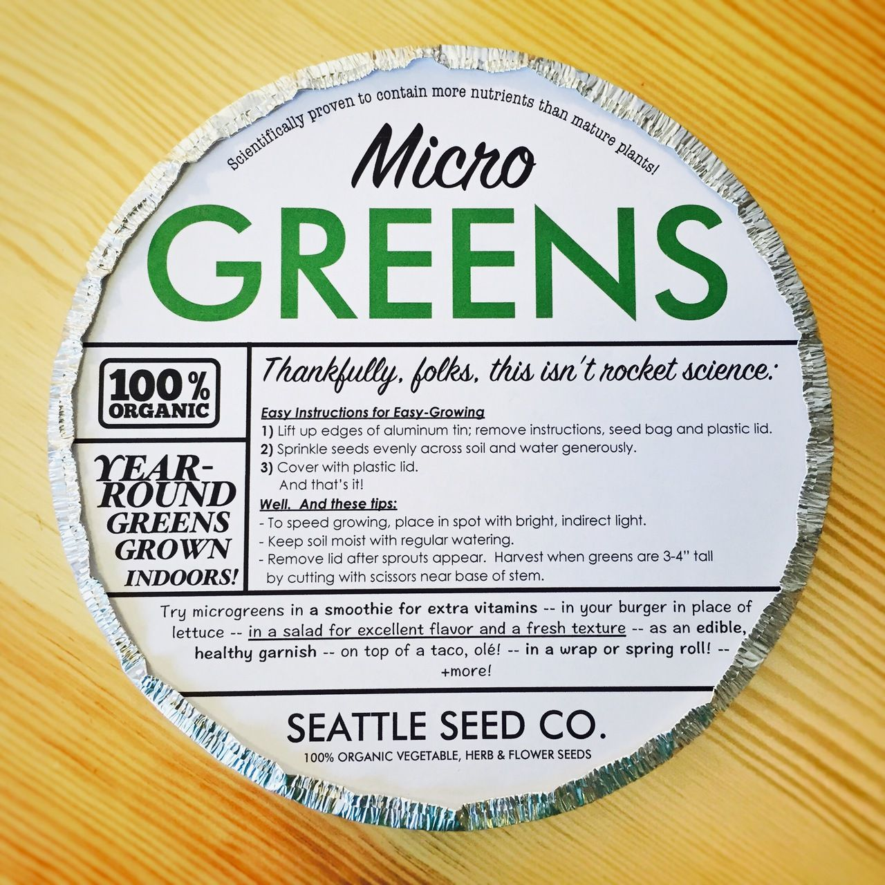 Perfect Container Gardening · Organic Microgreens Starter Kit   Seattle ...