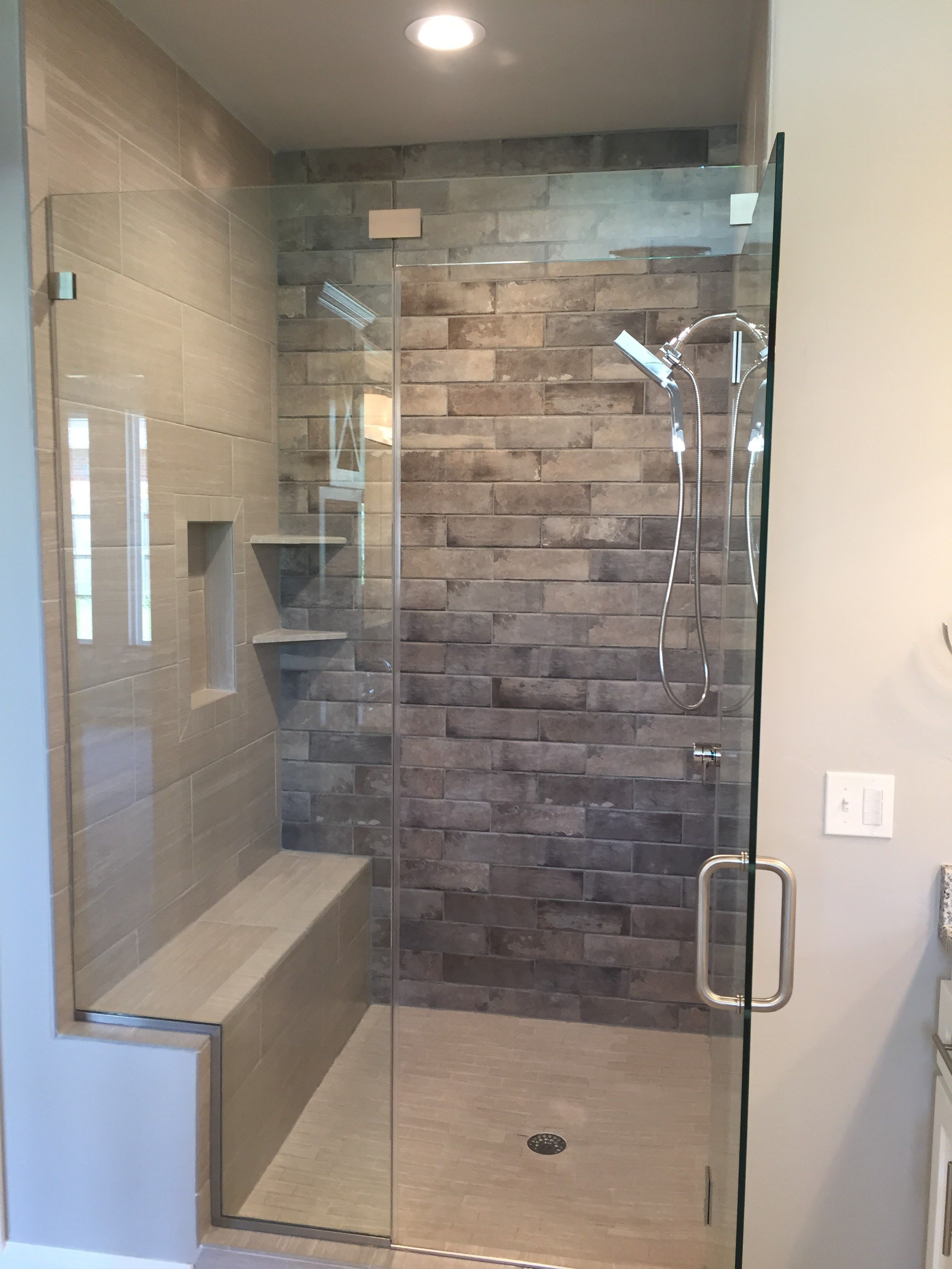 Master Shower Feature Wall Accent Tile Frameless Shower Door Fancy Bathroom Large Tile Bathroom Bathroom Shower Panels