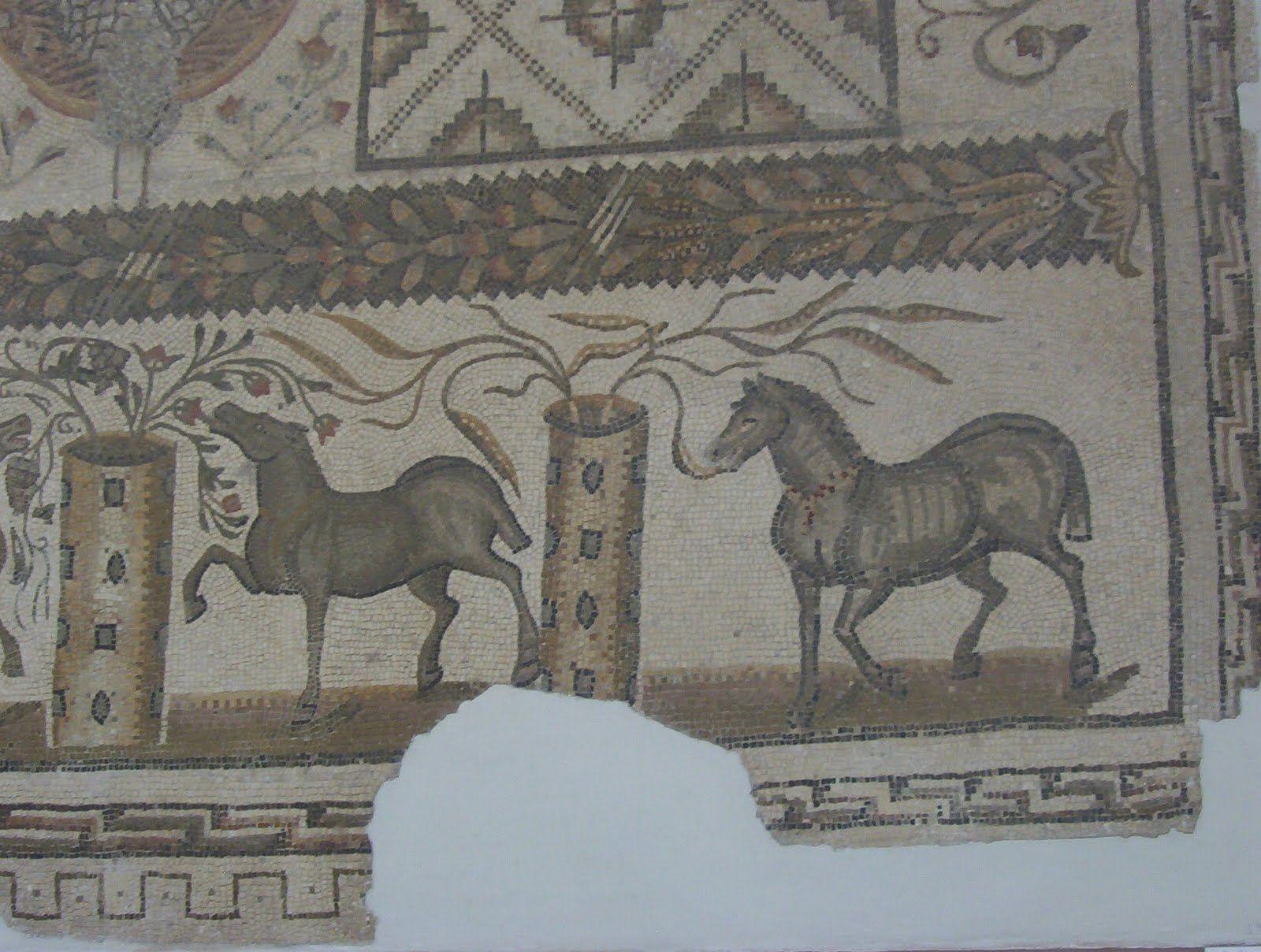 Horse mosaics, Bardo Museum