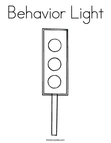 Behavior Light Coloring Page Traffic Light Coloring Pages For