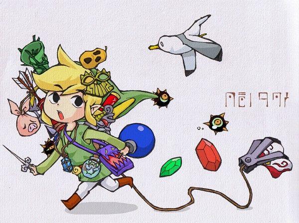 WindWaker Link & all his items lol