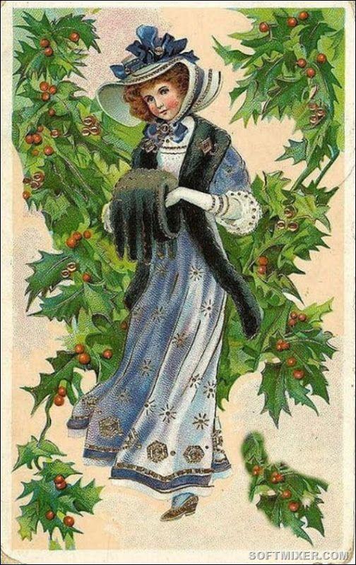 Поздравления февраля, открытки 18-19 веков рождество