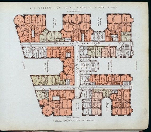 The Ansonia Floor Plan-Upper West Side-NYC