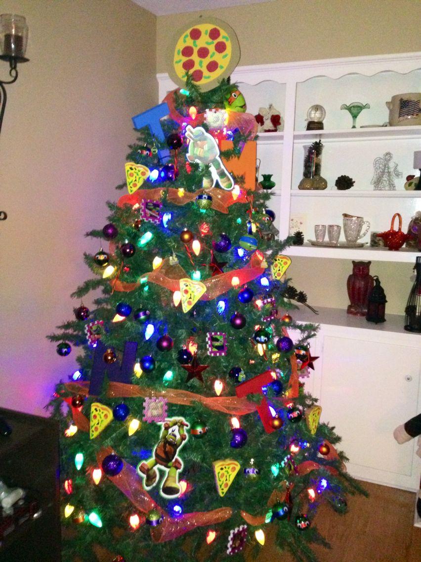Ninja Turtle Christmas Tree.Our Teenage Mutant Ninja Turtle Tree Holidays Creative