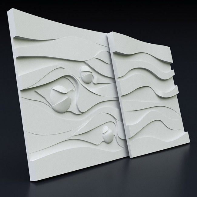 Molds for 3D panels made from ABS plastic for concrete and