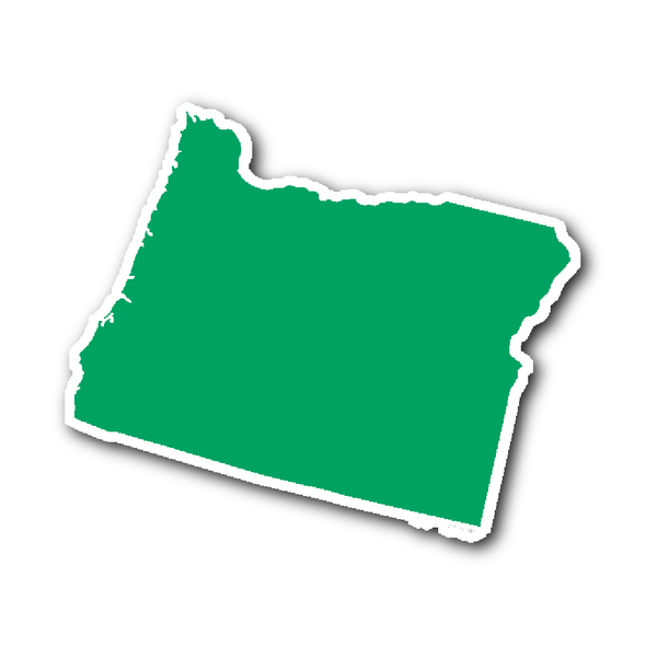 Oregon State Shape Sticker Outline GREEN (With images) | Oregon ...