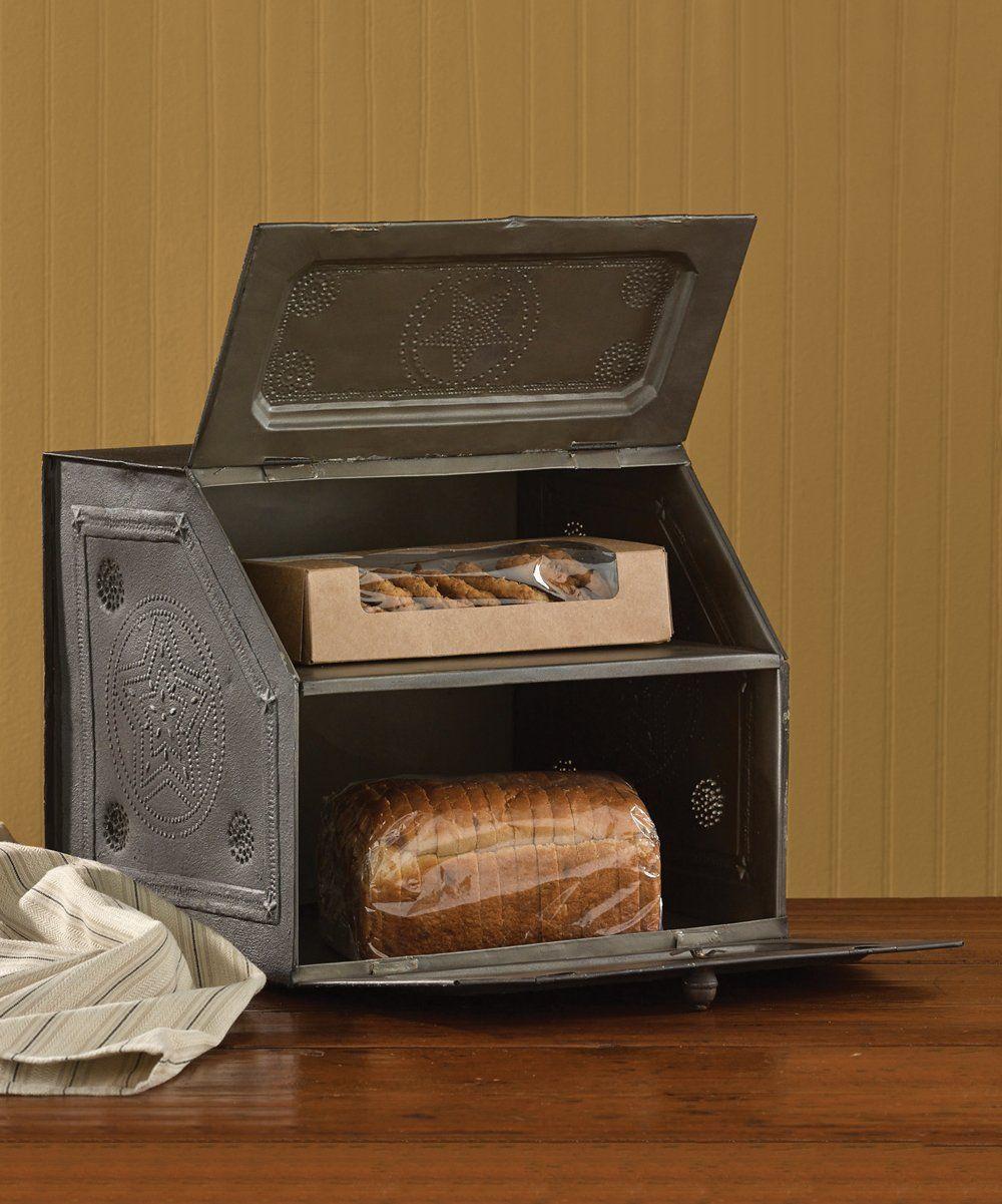 Black star metal bread box vintage bread boxes