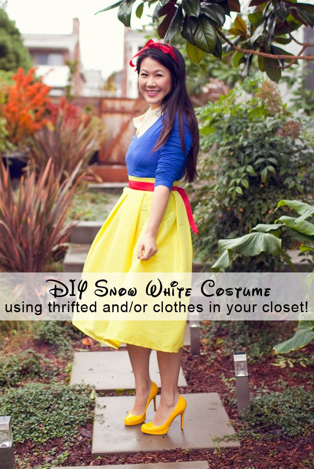 DIY Snow White Costume using thrifted and/or clothes in