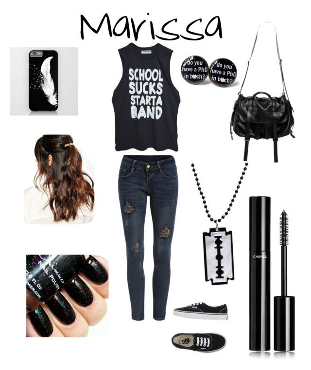 """""""Untitled #35"""" by foxydeadpool on Polyvore featuring High Heels Suicide, Vans, Natalia Brilli, Suzywan DELUXE, Chanel, women's clothing, women's fashion, women, female and woman"""