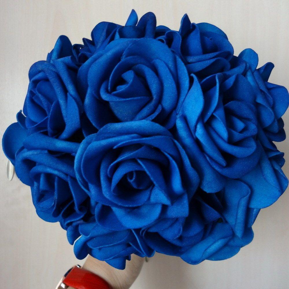 50pcs 3 royal blue wedding flower faux flowers foam roses decor 50pcs 3 royal blue wedding flower faux flowers foam roses decor bulk wholesale izmirmasajfo