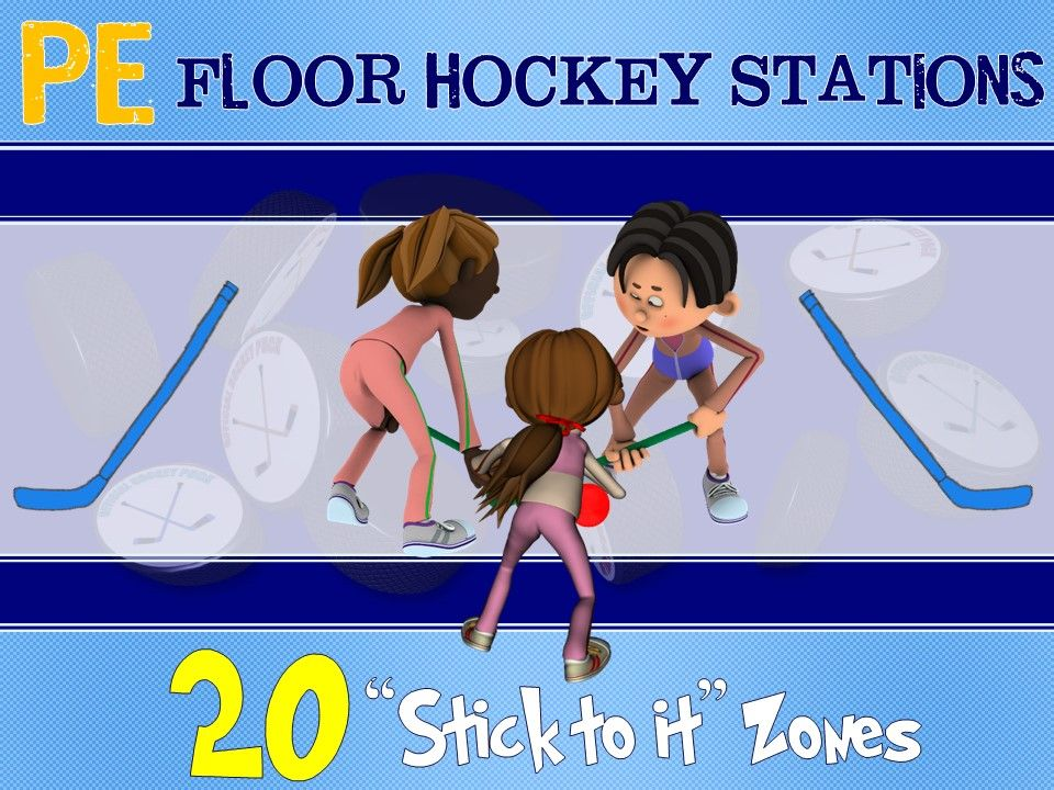 Pe Floor Hockey Stations 20 Stick To It Zones Pe