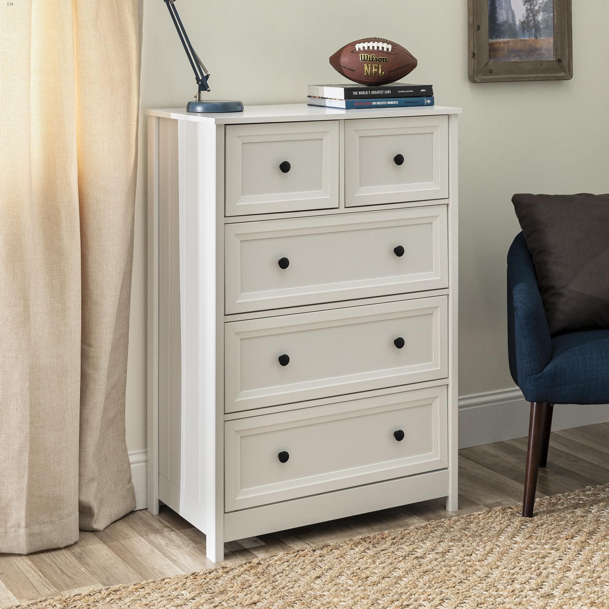 Manor Park Classic Style 5 Drawer Grooved Dresser White Dresser Traditional Dressers Dresser As Nightstand Classic Style [ 2000 x 2000 Pixel ]