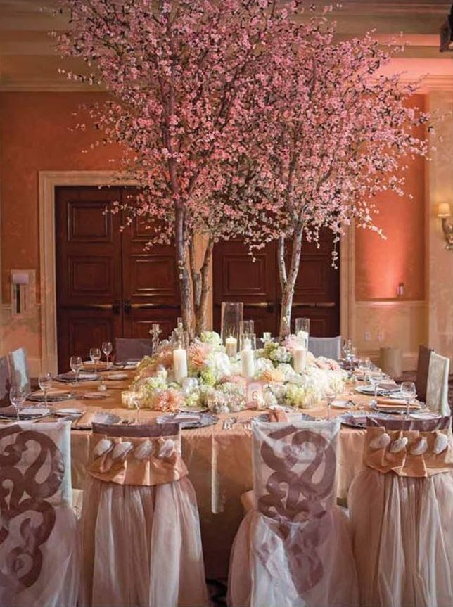 A Gorgeous Spring Tablescape With Blossoming Trees