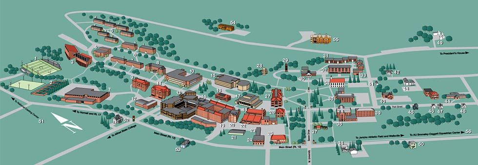 AU Campus (With images) Campus map, Alfred university