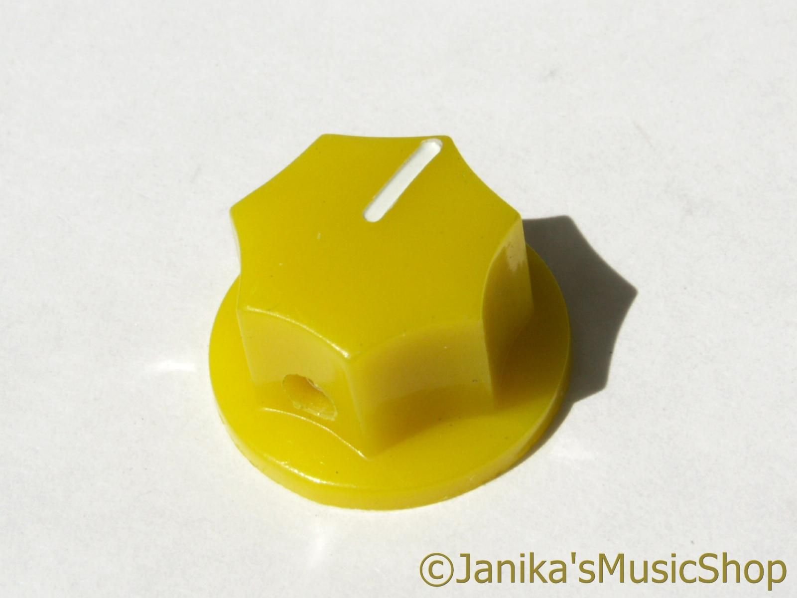 20mm yellow potentiometer knob jazz bass guitar volume amplifier pot with screw