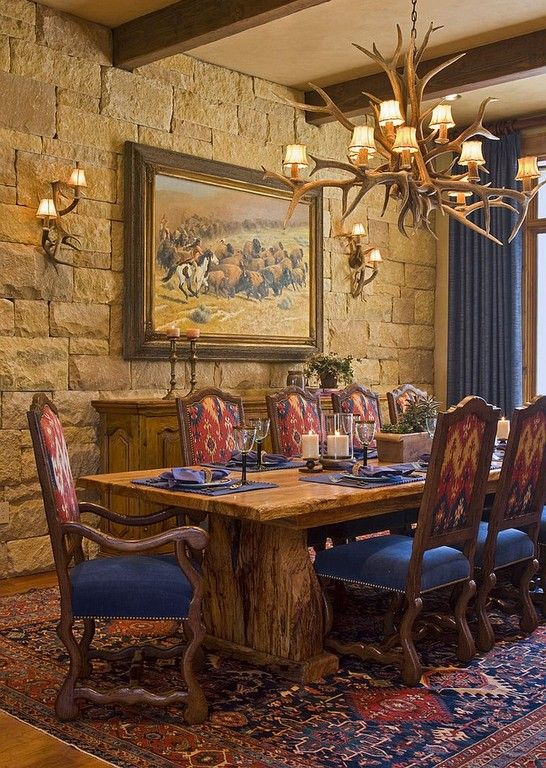30 Awesome Rustic Western Dining Room Ideas Western Decor
